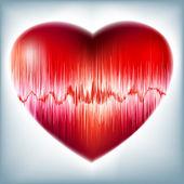 Coeur avec le symbole du rythme cardiaque. eps 8 — Vecteur