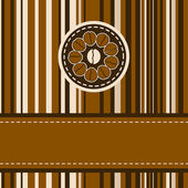 Menu with coffee beans and stripes. EPS 8 — Stock Vector