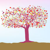 Abstract valentine card heart tree. EPS 8 — Stock Vector