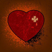 Miłość nieczysty styl szablon karty. eps 8 — Wektor stockowy