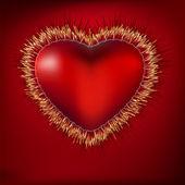 Ekg ile soyut bir kalp. eps 8 — Stok Vektör