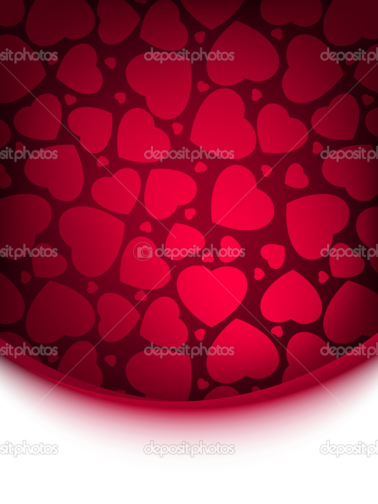 Abstract red heart background. EPS 8 vector file included — Stok Vektör #5632857