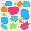 Royalty-Free Stock Vector Image: Colorful different Speech Bubbles. EPS8
