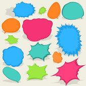 Colorful different Speech Bubbles. EPS8 — Stock Vector