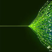抽象的绿色能源的设计。eps8 — 图库矢量图片