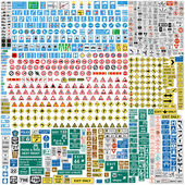 More than Six hundred european traffic signs — Stock Vector