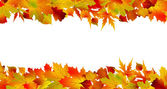 Colorful autumn border made from leaves. EPS 8 — Stock Vector