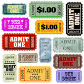 Tickets in different styles template set. EPS 8 — Stock Vector