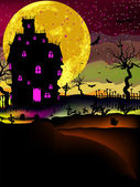 Haunted house halloween background. EPS 8 — Stock Vector