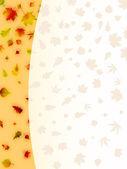Las hojas de otoño colorido tarjeta. eps 8 — Vector de stock