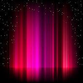 Fondo púrpura aurora boreal. eps 8 — Vector de stock