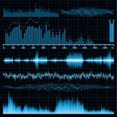Conjunto de ondas sonoras. fundo de música. eps 8 — Vetorial Stock