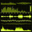 Sound waves set. Music background. EPS 8 — Stockvector #5966560
