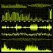 Sound waves set. Music background. EPS 8 — Vettoriale Stock #5966560