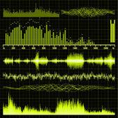 набор звуковых волн. фоновой музыки. eps 8 — Cтоковый вектор