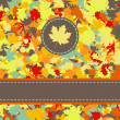 Colorful backround of fallen autumn leaves. EPS 8 - Vettoriali Stock