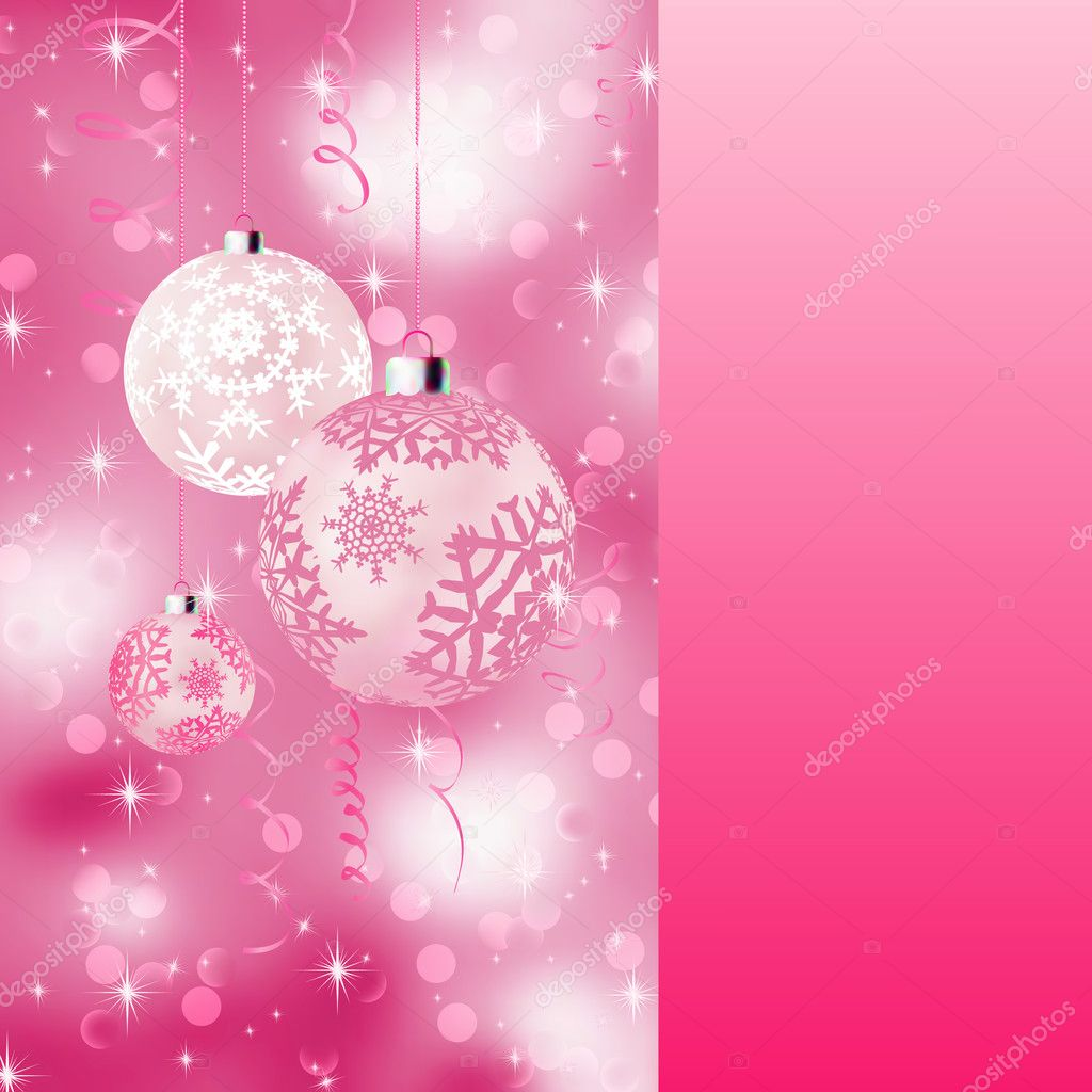 Background with stars and Christmas balls. EPS 8 vector file included — Stock Vector #5977987