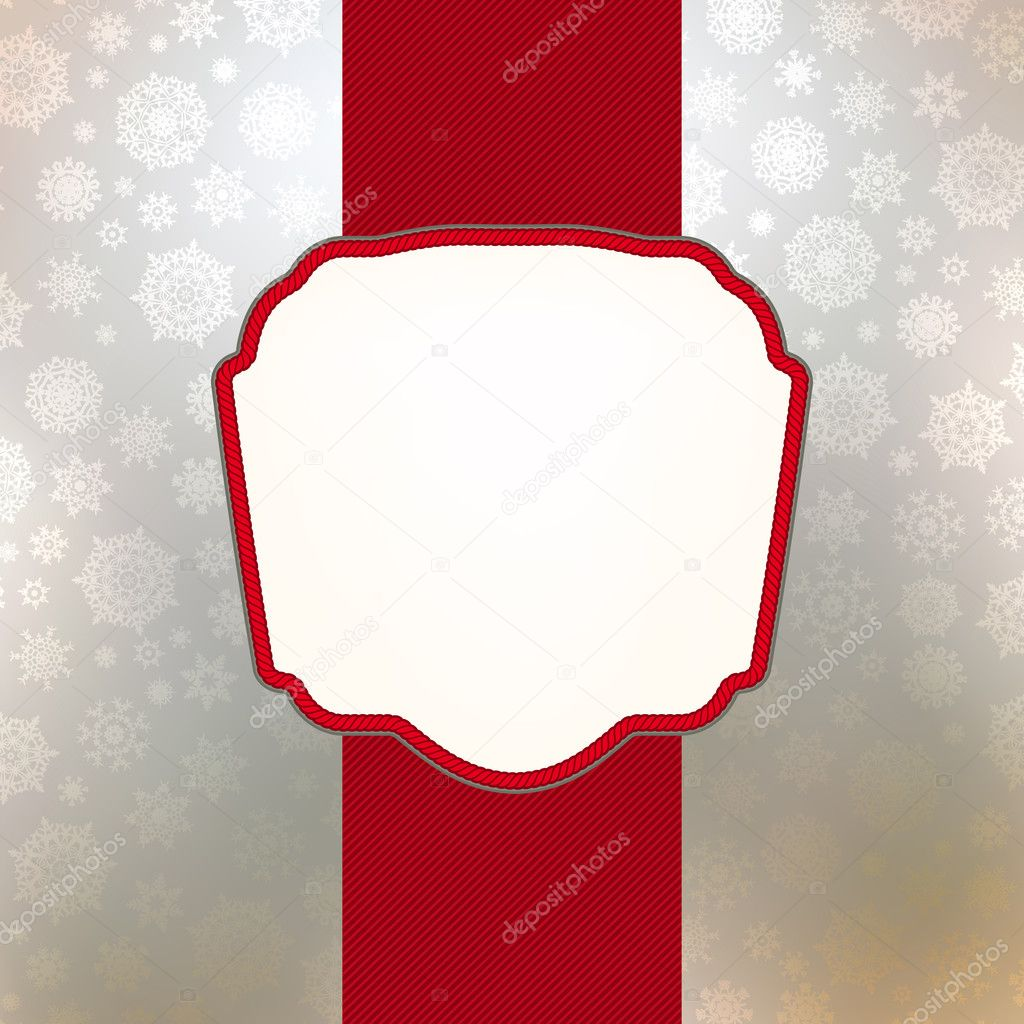 Christmas card template (Without transparency). EPS 8 vector file included  Stock Vector #5998547