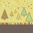 Beautiful Christmas tree illustration. EPS 8 — Imagen vectorial