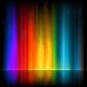 Aurora Borealis. Colorful abstract. EPS 8 — Stock Vector