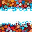 Beautiful colorful heart shape background. EPS 8 — Imagen vectorial