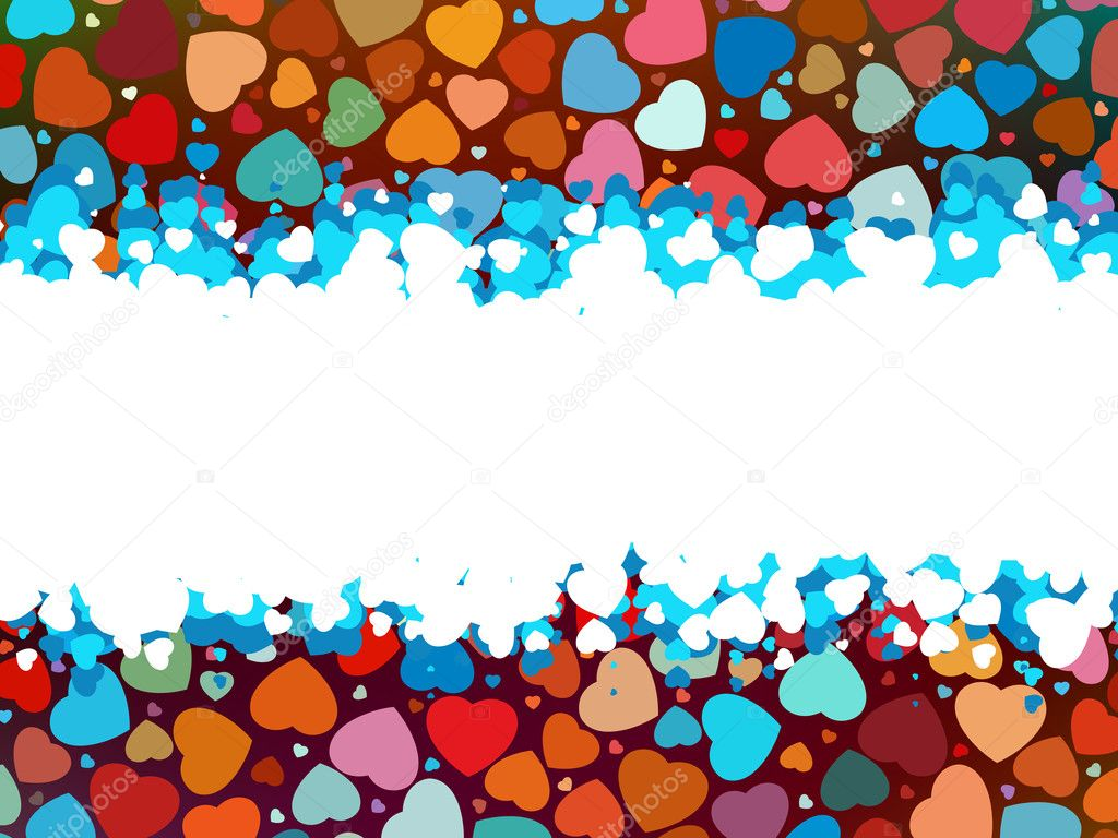 Beautiful colorful heart shape background. EPS 8 — Stock Vector