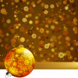 Gold happy Christmas card,winter background. EPS 8 — Stock vektor