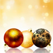 Beautiful gold happy Christmas card. EPS 8 — Imagen vectorial
