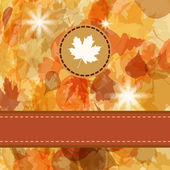 Colorful backround of fallen autumn leaves. EPS 8 — Stock Vector