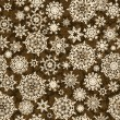 Christmas pattern snowflake background. EPS 8 - Stok Vektör