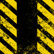 A grungy and worn hazard stripes texture. EPS 8 - Vettoriali Stock