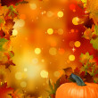Autumn Pumpkins and leaves. EPS 8 vector file included - Stok Vektör