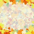 Colorful backround of fallen autumn leaves. EPS 8 — Stock Vector #6119991