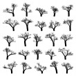 Spooky tree silhouette vector isolated. EPS 8 — Vector de stock #6137443