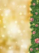 Thank you card a bright christmas. EPS 8 — Stock Vector