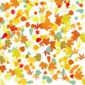 Pattern with autumn leafs. EPS 8 — Stock Vector
