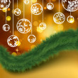 Elegant golden christmas background. EPS 8 - Vettoriali Stock