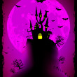 Royalty-Free Stock : Scary halloween vector with magical abbey. EPS 8
