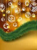 Elegant golden christmas background. EPS 8 — Stock Vector