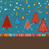 Retro Christmas Card Template. EPS 8 — Stock Vector