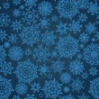 Christmas seamless pattern with snowflakes, EPS 8 - Vettoriali Stock