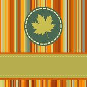 Cute autumn frame. EPS 8 — Stock Vector