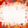 Autumn leaves border for your text. EPS 8 — Stock Vector