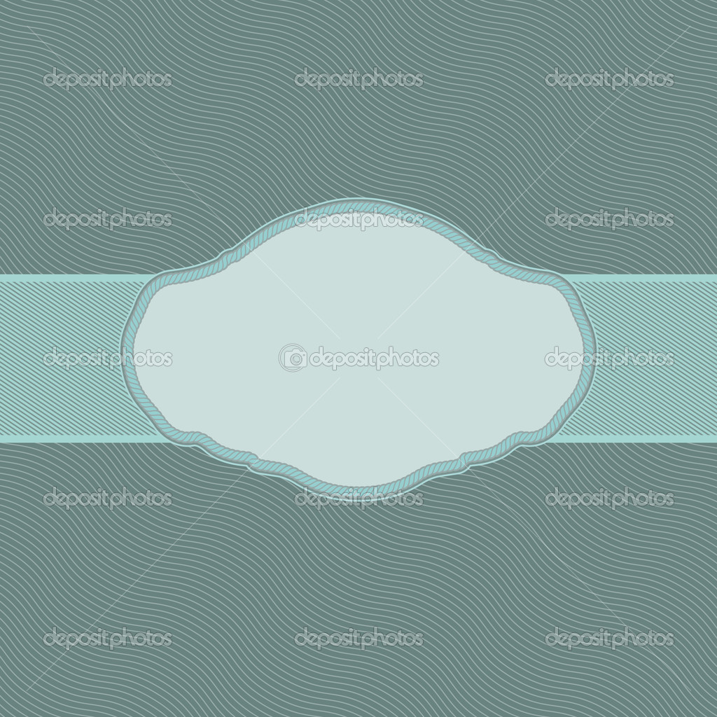 Vintage styled card with wave. EPS 8 vector file included — Stock Vector #6339435
