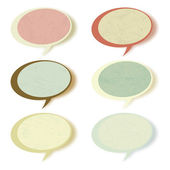 Retro speech bubbles set with copy space. EPS 8 — Vettoriale Stock