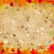 Autumn leaves border for your text. EPS 8 - Stock Vector