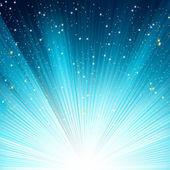 蓝色发光的射线。8 eps — 图库矢量图片