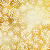 Golden pattern with snowflakes. EPS 8 — Stock Vector