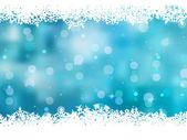 Sfondo blu con fiocchi di neve. eps 8 — Vettoriale Stock