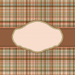 Royalty-Free Stock Vector Image: Wallace tartan vintage card background. EPS 8 vector file included